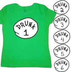 Ladies T-Shirt Choose One Drunk 1 2 Funny St Patricks Pattys Day Tee Green Shirt Vacation Humor, Vacation Ideas, Vacation Packing, Girls Weekend Shirts, Family Cruise Shirts, Cruise Outfits, Travel Shirts, Bff Shirts, Disney Shirts