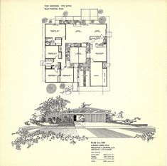 Mirror image but a similar design to Valerie's house, but Eichler Homes Mid Century Post and Beam Floorplan Poster Size Poster Joseph Eichler, Modern Floor Plans, House Floor Plans, Midcentury Modern House Plans, Orange County, Eichler Haus, Vintage House Plans, Courtyard House, Post And Beam