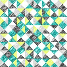80s Scribble Triangles by ravynka