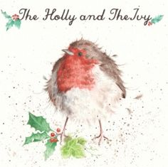 The Holly and The Ivy ~ lovely card from Wrendale Designs