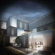 Duggan Morris - Curtain Road by Forbes Massie, via Behance #architeture #pin_it @mundodascasas Veja mais aqui(See more here) www.mundodascasas.com.br