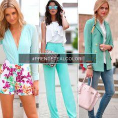 El color Celeste BB en tus prendas combina con una hermosa tarde de sol ¡Lucilo! #PrendeteAlColor