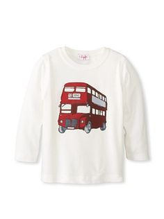30% OFF Il Gufo Kid's Bus T-Shirt (Milk)