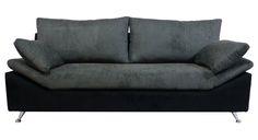 Sofá MILANO tapizado combinado (3 cuerpos) patas metálicas — abideco
