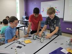 Starting solar power rovers in the Tech Camp class called Exploration 2050: Future of Space Exploration and Drones.