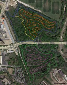 Dallas Off Road Bicycle Association, Harry Moss Park trails- can hike or bike, Greenville and Walnut Hill