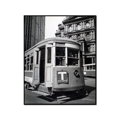 Old Post Office with Trolley - II, Park Row and Broadway, Manhattan by Berenice Abbott Artblock