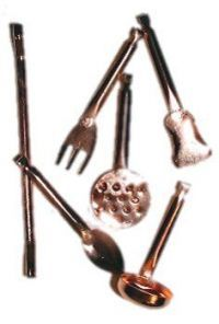 Doll House Copper Utensils