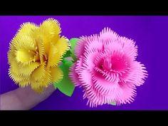 Quilling Flowers Tutorial, Crepe Paper Flowers Tutorial, Paper Quilling Flowers, Ribbon Flower Tutorial, Tissue Paper Flowers, Paper Roses, Bow Tutorial, Flower Crafts, Diy Flowers