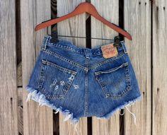 Vintage LEVI 501 Button Fly Jean Super Short by TomieHarlene, $25.50