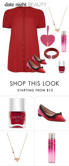 """""""Date night outfit contest"""" by im-karla-with-a-k ❤ liked on Polyvore featuring Nails Inc., Prada, Betsey Johnson, XOXO, women's clothing, women, female, woman, misses and juniors"""