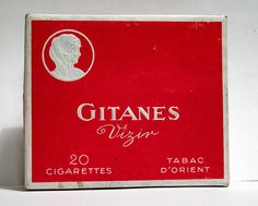 A pack of Gitanes cigarette, a French cigarette brand.