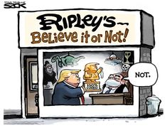 Trump Cartoons, Free Cartoons, Political Art, Political Cartoons, Theatre Of The Absurd, Ripley Believe It Or Not, The Week Magazine, Everything Is Awesome