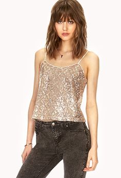 Sequined Floral Top | FOREVER21 - 2000090987