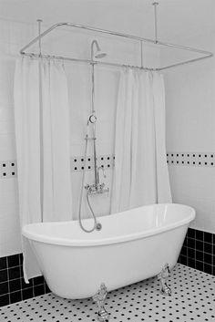 Tub and shower combo. Bathroom ...
