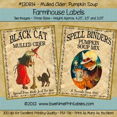 Farmhouse Labels - Mulled Cider Pumpkin Soup