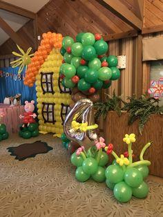 Peppa Pig Balloons, 2nd Birthday, Birthday Ideas, Balloon Decorations, Party Themes, Balloon Centerpieces