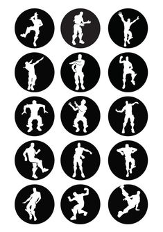 Cupcake toppers Silhouettes or buttons Printable Birthday Party Themes, Boy Birthday, Birthday Recipes, Birthday Ideas, Carnival Party Games, Avery Label Templates, Christmas Party Activities, Theme Mickey, Printable Christmas Coloring Pages