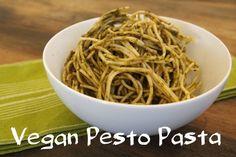 Pasta With Vegan Pesto Sauce, get the recipe here: http://www.peta.org/living/food/pasta-vegan-pesto-sauce/ #pestopasta #compassionatecooking