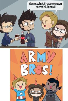Army Bros (or the time Steve got jealous of Science Bros) ---  Oh it's still one of the cutest things I've ever seen