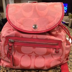 100% authentic coach 100% authentic - rarely used - straps are in great condition - great condition overall Coach Bags