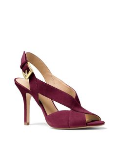 291399fea47c34 New Michael Kors Becky Dress Slingback Sandals Suede Plum Size 8.5M  #MichaelKors #Slingbacks
