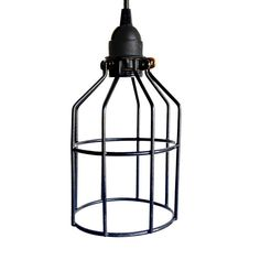 Industrial Lighting Black Cage Pendant light Black by Houselights