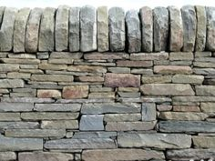 Dry stone wall, sandstone... THIS is an artform.