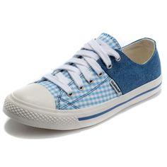 Calsonusa Brand 2013 Womens Flats Denim Color Block Plaid Low Casual Sneakers Canvas Shoes on AliExpress.com. $18.00