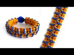 How to Make a Lark's Head Stitched Cobra Knot Paracord Bracelet Tutorial - YouTube