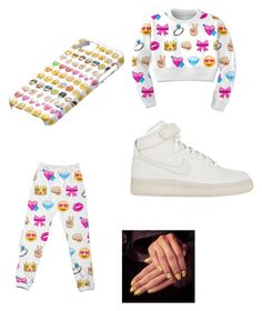 """Emoji time"" by niyagirl2006 ❤ liked on Polyvore featuring beauty and NIKE"