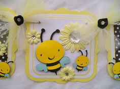 bumble+bee+baby+shower | Bumble bee baby shower banner, its a girl, baby bee - READY TO SHIP on ...