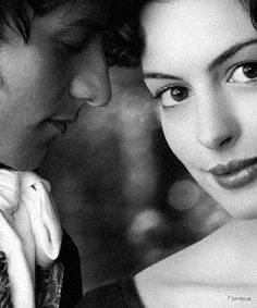 James McAvoy as Tom Lefroy and Anne Hathaway as Jane Austen in Becoming Jane.