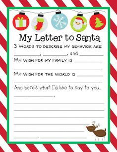 140 best christmaswinter holidays ideas images on pinterest letter to santa from lesson plan spiritdancerdesigns
