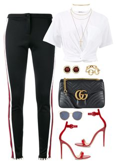 """#692"" by concinnity on Polyvore featuring Gucci, Gianvito Rossi, T By Alexander Wang, Aqua, Allurez and Christian Dior"