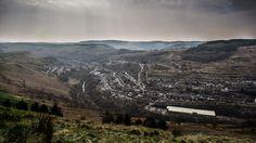 Looking down on the Rhondda valley -The Rhondda Fach, taken from Llanwonno by Nicky Roberts, of Pontypridd, Rhondda Cynon Taf.