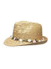 Womens Tassel Band Trilby Hat, Beige, One Size Dorothy Perkins