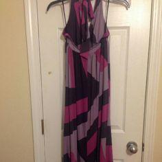 Backless Dress Purple pink and lavender back out summer dress magenta Dresses Backless