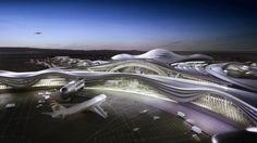 Curvature architecture design by KPF's for the new Midfield Terminal Complex at Abu Dhabi International Airport has been approved by the Executive Council of Abu Dhabi. Concept Architecture, Futuristic Architecture, Amazing Architecture, Architecture Design, Contemporary Architecture, Cultural Architecture, Amazing Buildings, Organic Architecture, Abu Dhabi