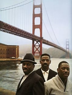 The Montgomery Brothers (Buddy, Monk and Wes) by the Golden Gate Bridge in  San Francisco