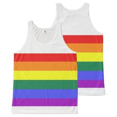 Rainbow Gay Pride LGBT full print tank top from Ricaso
