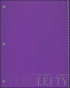 Lefty 1-Section Wide-Ruled Notebook with Assorted Covers | Main photo (Cover)