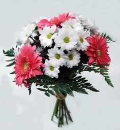 bonito ramo de flores low cost pero de primera calidad y recin cortadas y