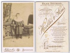CABINET-CARD-Victorian-Child-by-Hellis-of-London 71 Green Lanes Stoke Newington