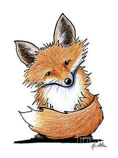 My spirit animal 💜💜💜💜 Art: Little Red Fox by Artist KiniArt Fox Drawing, Painting & Drawing, Fox Painting, Fox Art, Bird Art, Animal Drawings, Art Drawings, Cartoon Drawings, Lapin Art
