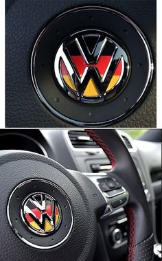 Volkswagen VW logo germany steering wheel decal car for colf jetta beetle passat