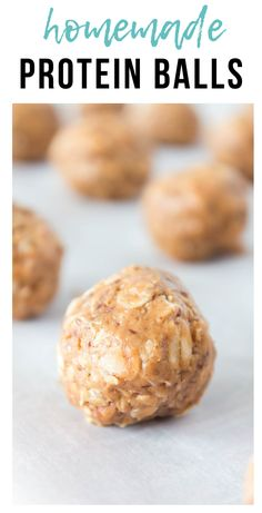 These homemade protein balls are make ahead, healthy, delicious, and no bake!! You will love these tasty snacks that are filling & energizing!! #easy #makeahead #nobake #freezerfriendly | happymoneysaver.com Healthy Gluten Free Recipes, No Dairy Recipes, Foods With Gluten, Healthy Baking, Real Food Recipes, Simple Recipes, Chicken Freezer Meals, Healthy Freezer Meals, Freezer Recipes