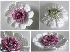 Копия видео Вязаные крючком красивые  цветы. Crochet Beautiful Flower - YouTube