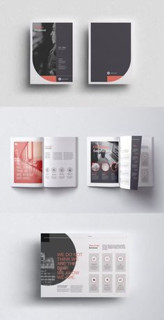 Proposal Templates for Adobe InDesign - Visual Arts & Identity Powerpoint Design Templates, Booklet Design, Book Design Layout, Adobe Indesign, Proposal Templates, Project Proposal Template, Design Typography, Vintage Typography, Company Profile Design