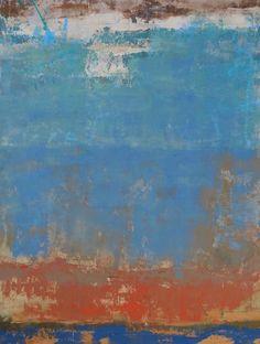 """Transzioni I 40"""" x 30"""" oil/cold wax on panel"""
